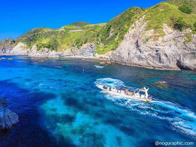 南伊豆の秘境「ヒリゾ浜」シュノーケルツアー